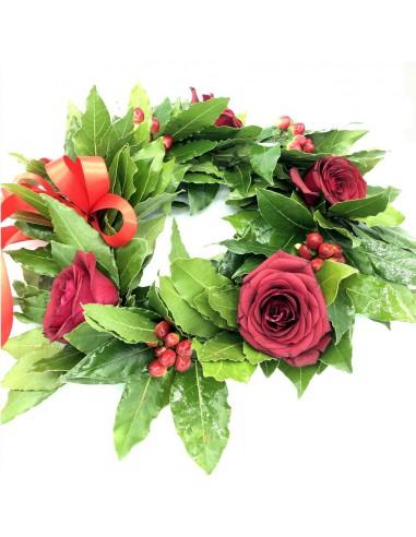 Corona Alloro rose rosse