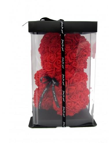 orsetto di rose rosse