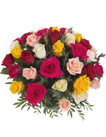 bouquet di rose colorate-vendita rose online-rose a domicilio