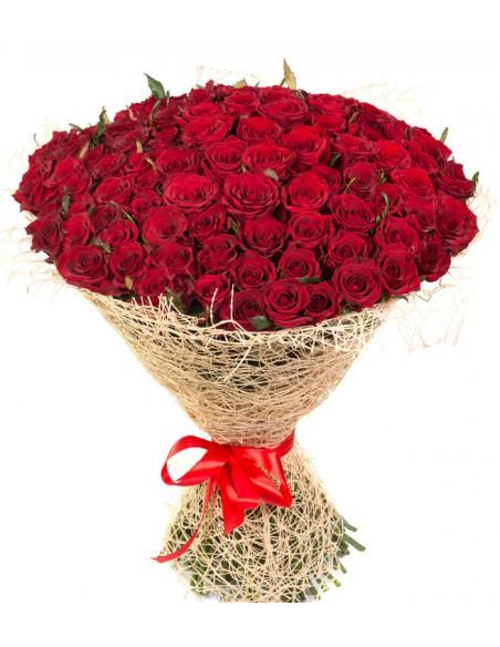 101 rose rosse -san valentino- amore-festa della mamma