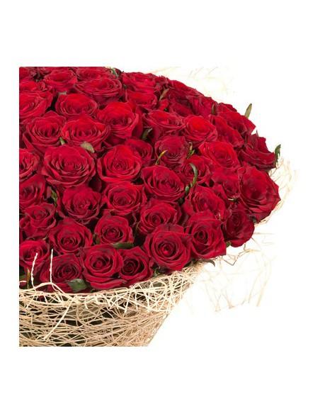 cento rose rosse a domicilio