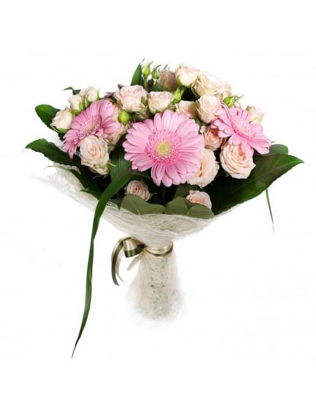MAzzo di rose e gerbere rosa