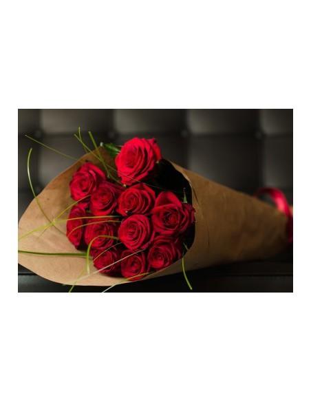 mazzo di rose rosse