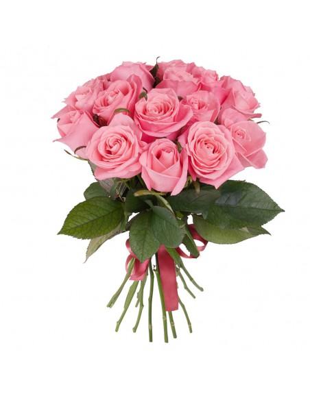 Vendita a Napoli Mazzo di rose rosa- spedizione a domicilio