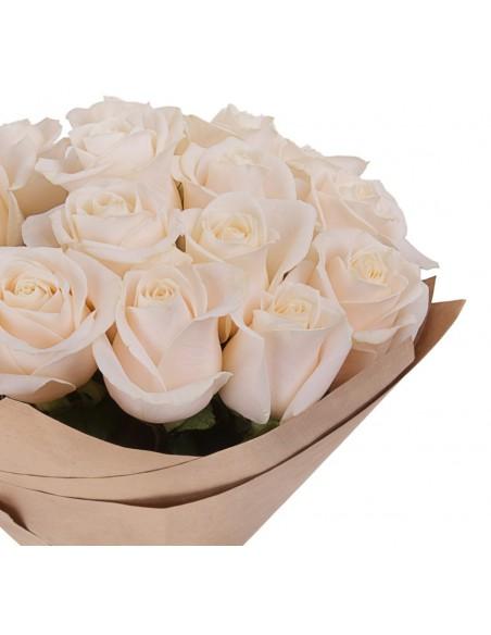 Mazzo di rose bianche per matrimonio