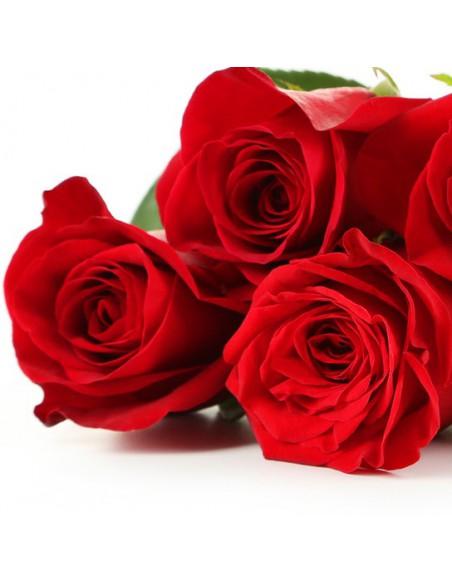 5 rose rosse- rose online - rose spedizione a distanza