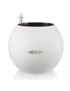 vaso lechuza bianco -vaso con riserva d'acqua -