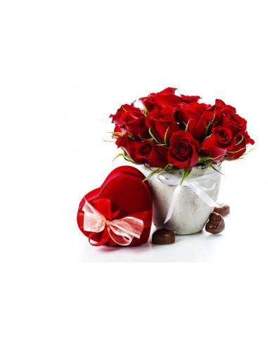 rose e cioccolatini