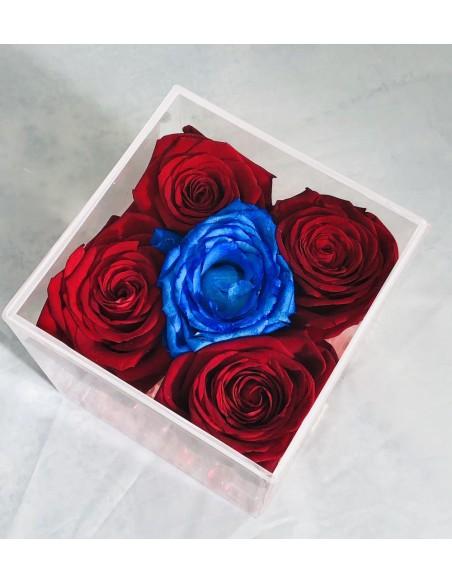 scatola rose blu