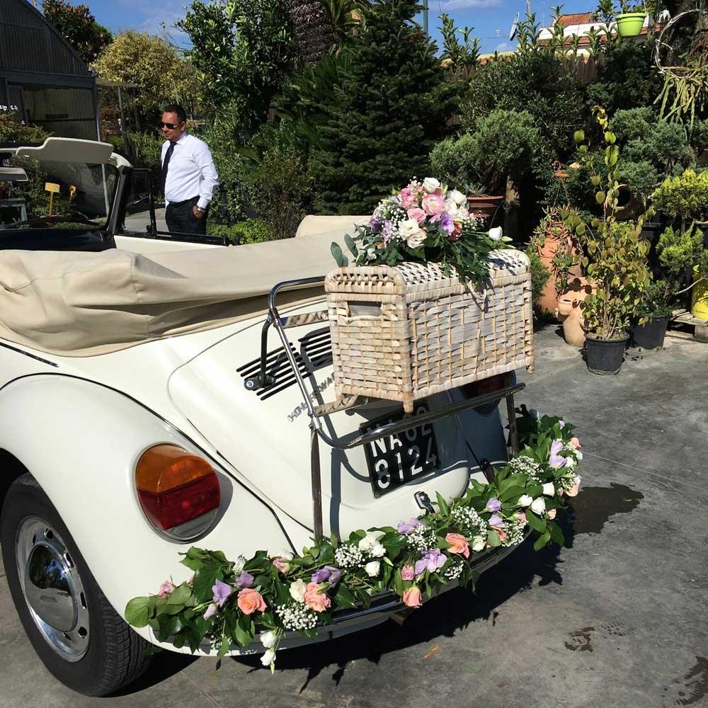 Auto con Fiori Matrimonio Pozzuoli